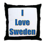 I Love Sweden Throw Pillow