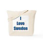 I Love Sweden Tote Bag