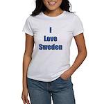 I Love Sweden Women's T-Shirt