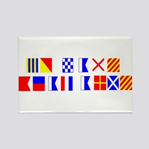 Go Navy Beat Army in Flags Rectangle Magnet