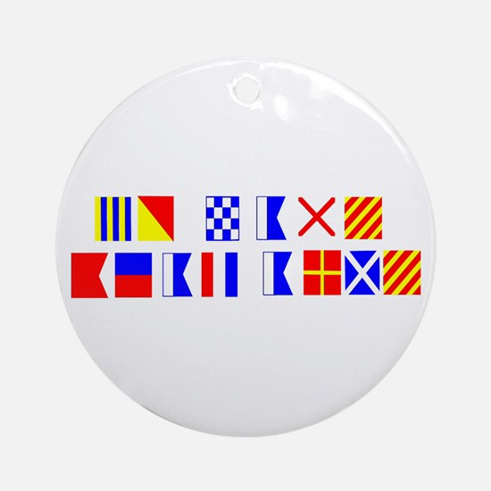 Go Navy Beat Army in Flags Ornament (Round)