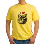 I Love Pussy Yellow T-Shirt