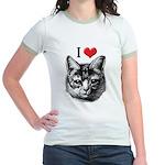 I Love Pussy Jr. Ringer T-Shirt
