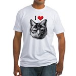 I Love Pussy Fitted T-Shirt