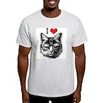 I Love Pussy Ash Grey T-Shirt