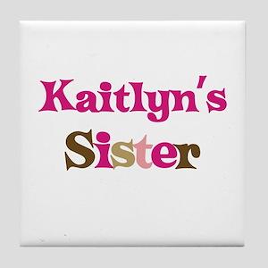 Kaitlyn's Sister Tile Coaster