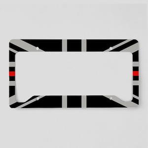 British Flag: Thin Red Line License Plate Holder