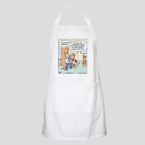 Dog greets Owner BBQ Apron