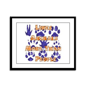 Animal Lover Framed Panel Print