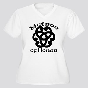 Celtic Knot Matron of Honor Women's Plus Size V-Ne