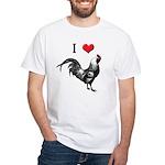 I Love Cock White T-Shirt
