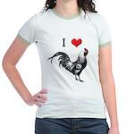 I Love Cock Jr. Ringer T-Shirt