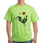 I Love Cock Green T-Shirt