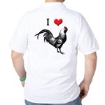 I Love Cock Golf Shirt