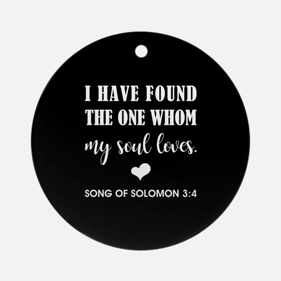 SONG OF SOLOMON Round Ornament