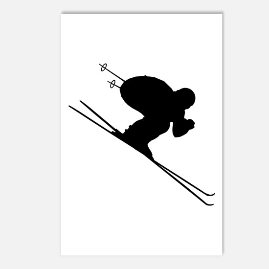 DOWNHILL SKIER Postcards (Package of 8)
