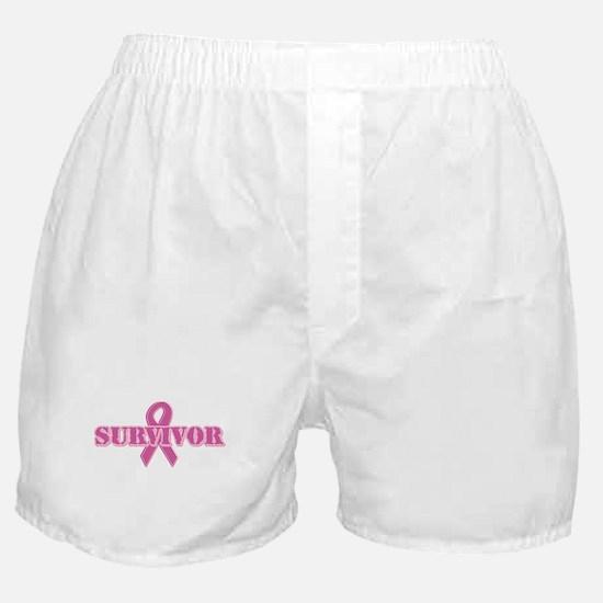 Survivor - Pink Ribbon Boxer Shorts