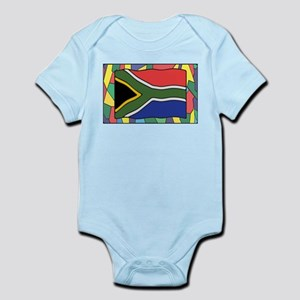 South Africa Flag On Stained Glass Body Suit