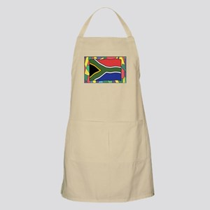 South Africa Flag On Stained Glass Light Apron