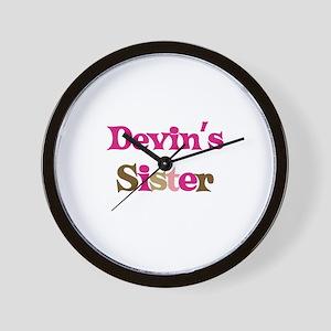 Devin's Sister  Wall Clock