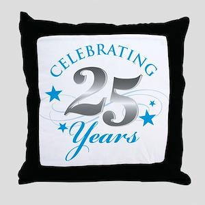 Celebrating 25 years Throw Pillow