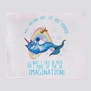 Unicatmaid unicorn cat mermaid Throw Blanket
