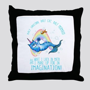 Unicatmaid unicorn cat mermaid Throw Pillow