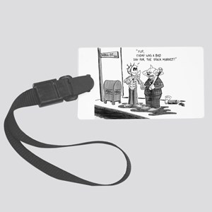 Bad day at the Market Large Luggage Tag