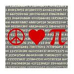 Peace, Love, and Pi Tile Coaster