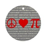 Peace, Love, and Pi Rearview Mirror Ornament
