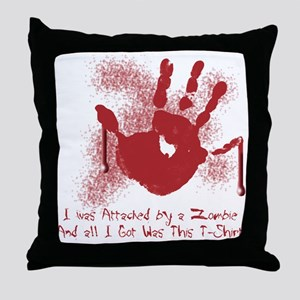 Attacked by Zombies Throw Pillow