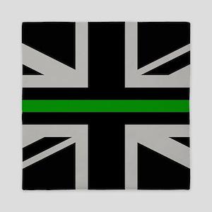 British Flag: Thin Green Line Queen Duvet