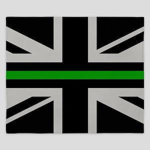 British Flag: Thin Green Line King Duvet