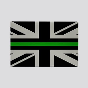 British Flag: Thin Green Line Rectangle Magnet