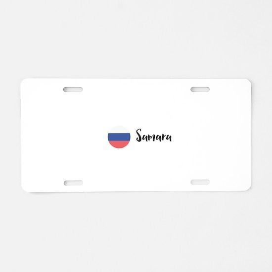 Samara Aluminum License Plate