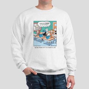 Dogs in Biology Class Sweatshirt