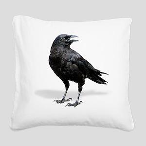 Black Crow lg Square Canvas Pillow