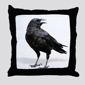 Black Crow lg Throw Pillow