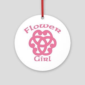 Celtic Knot Flower Girl Ornament (Round)