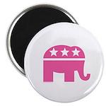 Republican Pink Elephant Logo Magnet