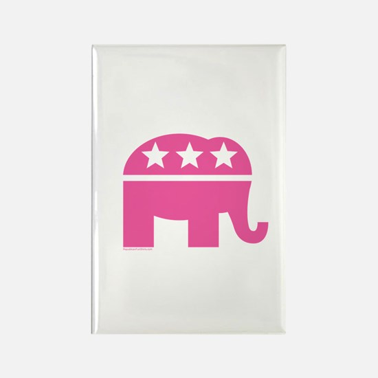 Republican Pink Elephant Logo Rectangle Magnet