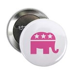 Republican Pink Elephant Logo 2.25