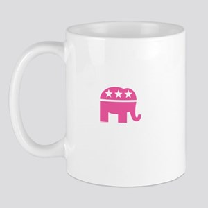 Republican Pink Elephant Logo Mug