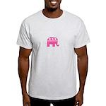 Republican Pink Elephant Logo Light T-Shirt