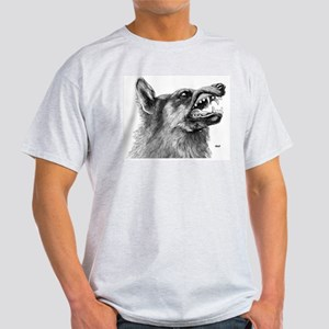 Wolf / Wolves (Front) Ash Grey T-Shirt