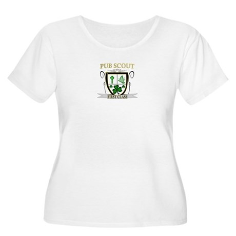 Irish Pub Scout Women's Plus Size Scoop Neck T-Shi