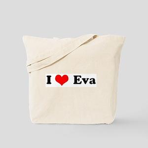 I Love Eva Tote Bag