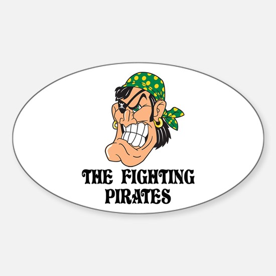 Fighting Pirates St. Pat's Oval Decal