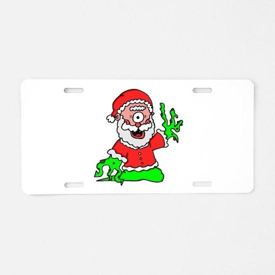 mutant santa Aluminum License Plate