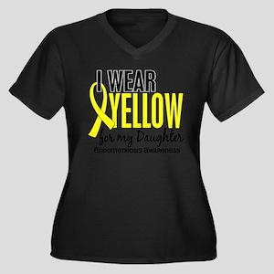 I Wear Yellow 10 Endometriosis Plus Size T-Shirt